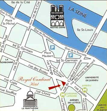 Royal cardinal hotel paris hotel st michel paris hotel for Parking f porte de versailles